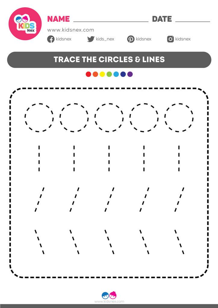 Tracing Lines Worksheet | Kids Nex